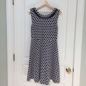 Pixley Millie a-line honeycomb dress navy/white